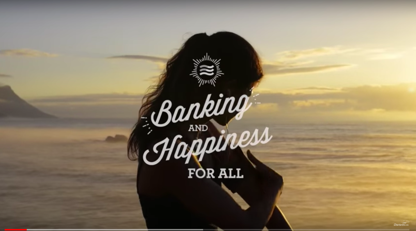 Banking and Happiness For All CharterBank